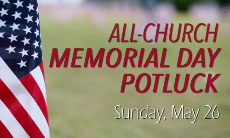 All-Church Memorial Day Potluck