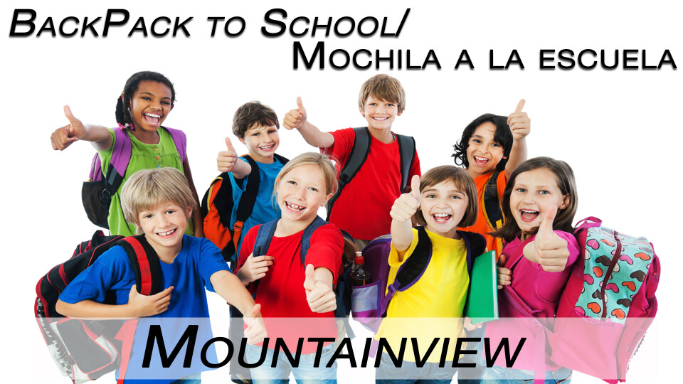 Mountainview Elementary Backpack to School